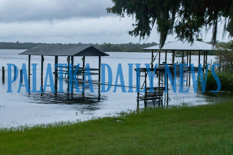 Docks along River Street in Palatka were submerged in the St. Johns River in the wake of Hurricane Dorian early Wednesday morning. Fran Ruchalski/Palatka Daily News