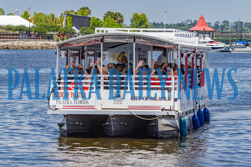 The Pride of Palatka II was busy all day taking Blue Crab Festival goers on tours down the river every hour. Fran Ruchalski/Palatka Daily News