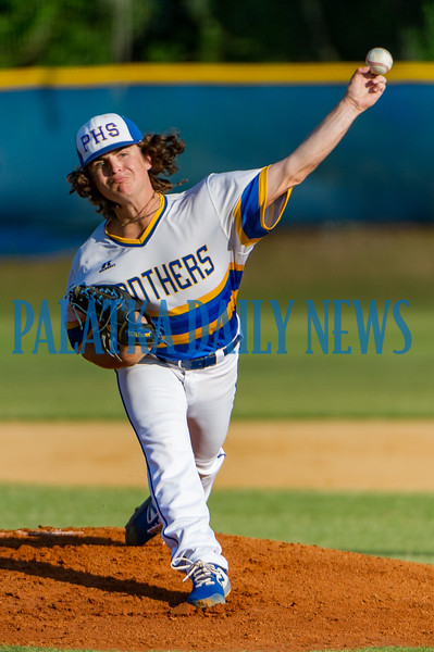 Palatka's Layton DeLoach got the start for the home team in the Putnam County All-Star Game on Thursday night. Fran Ruchalski/Palatka Daily News