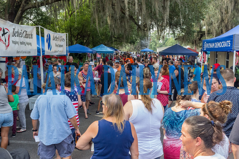 After the parade, the vendor area was swamped with folks celebrating Independence Day. Fran Ruchalski/Palatka Daily News