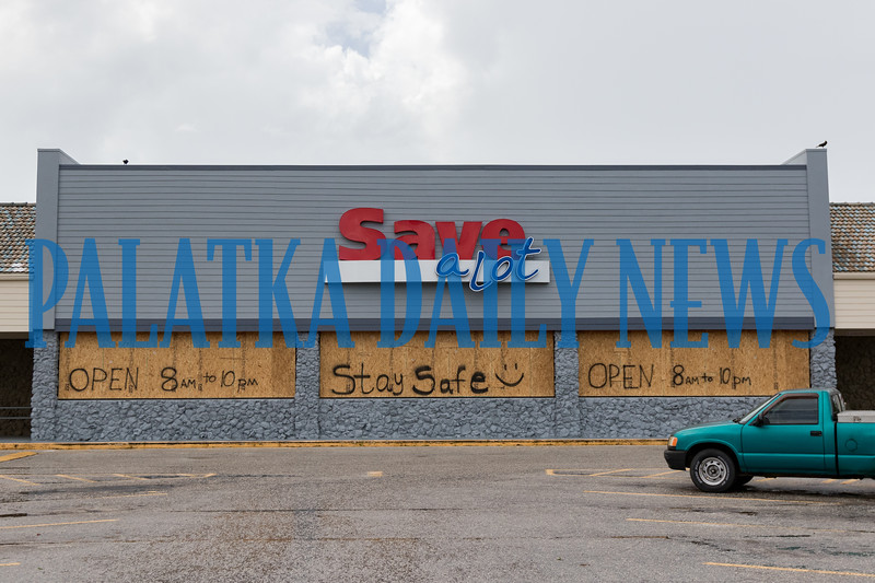 The Crescent City Save a Lot is boarded up, but they are staying open as long as they can. Fran Ruchalski/Palatka Daily News