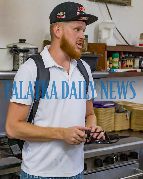 Johnathan Byrne volunteers at Bread of Life to give back to his community in a real way. Fran Ruchalski/Palatka Daily News