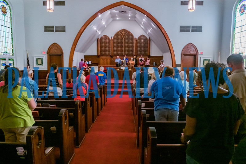 The local National Day of Prayer observance was held at Saint James United Methodist Church on Thursday. Fran Ruchalski/Palatka Daily News