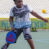 Nine-year-old Michael Colson returns a serve at the Youth Pickleball Introductory Clinic at the John Theobold Sports Complex on Thursday morning. The clinic was one of several events Putnam County Parks & Recreation organized to celebrate Park and Recreation Month. Fran Ruchalski/Palatka Daily News