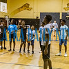 The older campers line up to shoot some hoops during Camp Higher Ground at the C. L. Overturf gym on Tuesday afternoon. Fran Ruchalski/Palatka Daily News