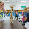 Makenna Harrell, 9, Lucille Strickland, 9, and Peyton Strickland, 9, get a little nervous about the outcome at the 4H Fit 4 Life day camp. Fran Ruchalski/Palatka Daily News