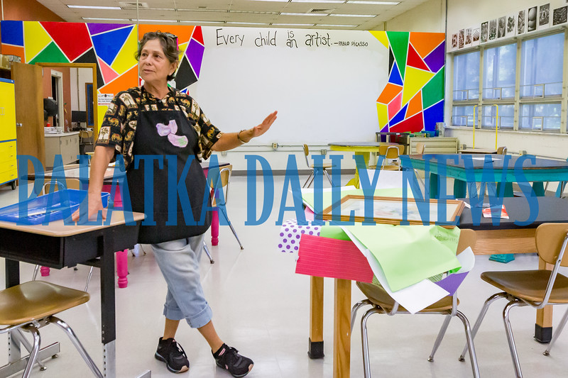 New to Browning-Pearce, Artemisa Lucy Montes will be teaching the children art and bringing a multicultural emphasis to her classes, giving students exposure to a wide range of artistic endeavors. Fran Ruchalski/Palatka Daily News