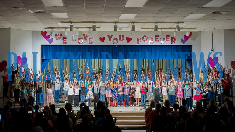 To begin the Mothers Day celebration at Interlachen Elementary School on Friday morning, the children put on a performance with songs of love for their moms. Fran Ruchalski/Palatka Daily News