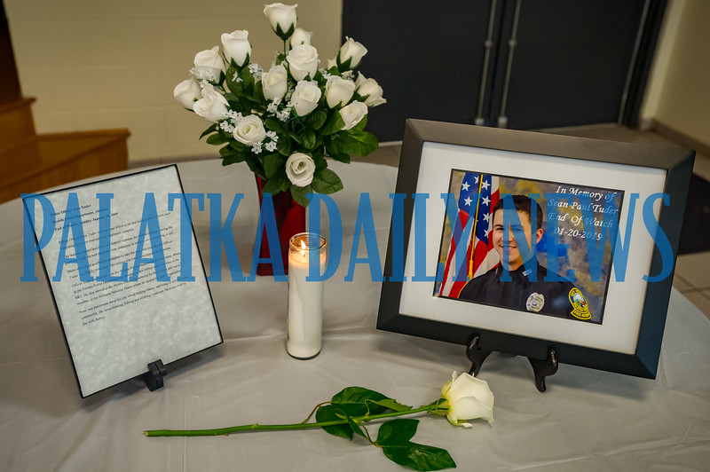 There was a special memorial for former Palatka officer Sean Paul Tuder who died in the line of duty this past January at a different department. Fran Ruchalski/Palatka Daily News