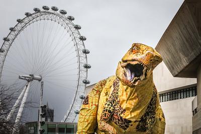 'Erth Dinosaur Zoo' at Southbank Centre's 'Imagine Children's Festival' photocall, London, UK