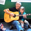 BEN GARVER — THE BERKSHIRE EAGLE<br /> Local Musician Andy Kelly joins Jessica Williamson's class at the Berkshire Museum for young children for a sin along, Monday April 8, 2019. Kelly was fortunate to have his granddaughter Eve Kelly Harkson in the class.  The class meets every Monday at 10 to learn about natural history, and Kelly joins them every few weeks to liven things up.