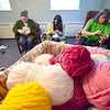 Teen knitting group