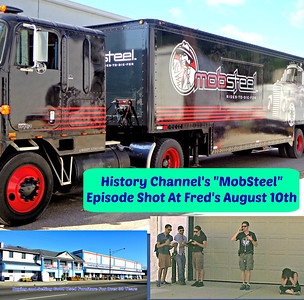 "History Channel's New Show ""MobSteel"" Episode Shot at Fred's."