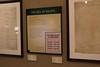 """The exhibition, """"Chartering Freedom"""" is open April 4-May 25, 2017, at the Mari Sandoz High Plains Heritage Center at Chadron State College. The documents reproduced in this exhibition chronicle the creation of the Declaration of Independence, Constitution, the Bill of Rights, and their collective impact on events in the U.S. and the world. (Photo by Tena L. Cook/Chadron State College)"""