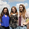 Future Chadron State College students, from left, McKenna Webel, Hannah Delaney and McKensi Webel, pose during Freshman Signing Day June 30, 2017. The Webels are twin sisters and all three students are from Lincoln, Neb. (Photo by Tena L. Cook/Chadron State College)