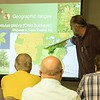 Chadron State College's High Plains Herbarium Director Steve Rolfsmeier addresses the Nebraska Leafy Spurge Working Task Force at the Dawes County Fairgrounds on Wednesday, July 26, 2017. (Tena L. Cook/Chadron State College)