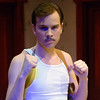 """Nathan Wojciechowski plays Louie in Chadron State College's production of """"Lost in Yonkers"""" by Neil Simon, student-directed by Molly Thornton. (Photo by Daniel Binkard/Chadron State College)"""