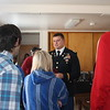 Students listen to Nathan Reicks explain what the Veteran/Military Resource Center does to help veterans and those who currently serve on campus.