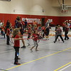 Students from HPER 325, HPER 427, and HPER 332 helped host elementary students from Chadron Public Schools for Jump Rope for Heart in the NPAC Arena 11/10.