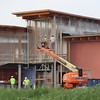 Construction continues to progress Tuesday on the laboratory building of the Rangeland Complex. (Tena L. Cook/Chadron State College)