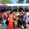Bridge Intensive English Language Program participants and their mentors, members of the CSC International Club, prepare to embark on a trip to a barbecue at the Chadron State Park August 24. (Tena L. Cook/CSC)