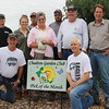 "Chadron State College received the Chadron Garden Club's ""Yard of the Month"" award for August. Front row, from left, Bryan Enos and Charile Wood. Back row, from left, Silas Kern, Kaitlyn Steinwart, Fred Hunn, Lucinda Mays, Steve Weber, Craig Lafontsee and Harry Mowry. Not pictured, student workers Alec Burke, Chance Helmick, Derek Jackson, and Trevon Moseley. (Tena L. Cook/CSC)"