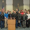 Chadron State College Army ROTC cadets pose with veterans during the CSC Veterans Day program Wednesday, Nov. 11, 2015. (Tena L. Cook/Chadron State College)