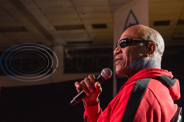 "Tom Lister Jr., known for his role as Debo in the hit nineties film ""Friday,""  (right) answers attendees questions on stage during Night of Nostalgia Saturday, March 7, 2020, at Harvey Hall Convention Center in Tyler."