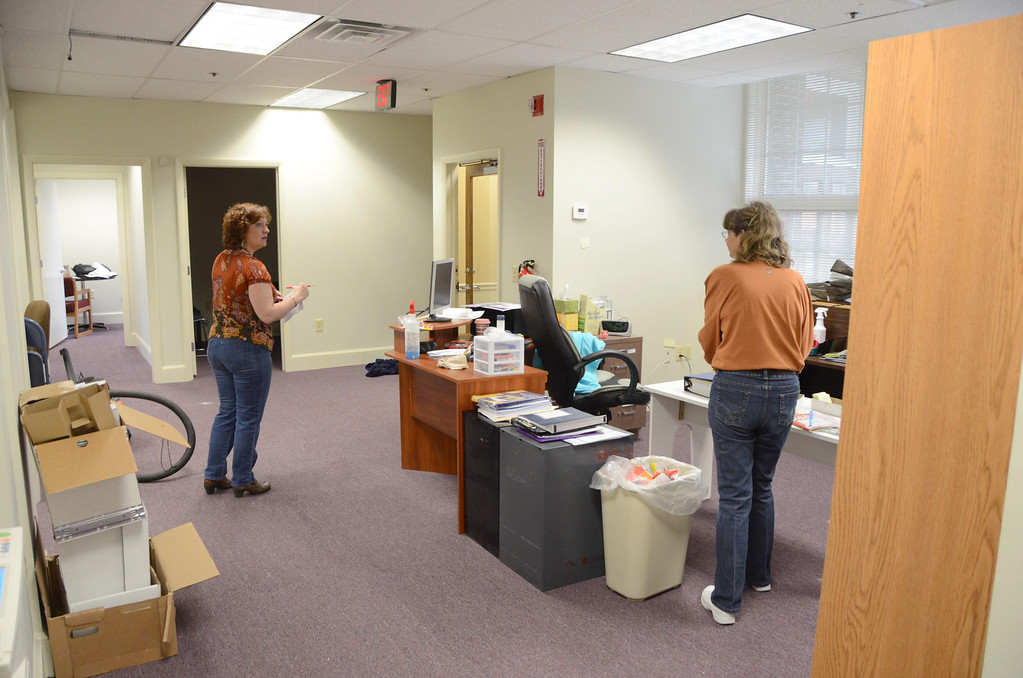 . Ecu-Health settles into their new location at 26 Union Street in North Adams on Tuesday, April, 15, 2014. From left are Karen Baumbach and Pat Flaherty. Gillian Jones / Berkshire Eagle Staff / photos.berkshireeagle.com