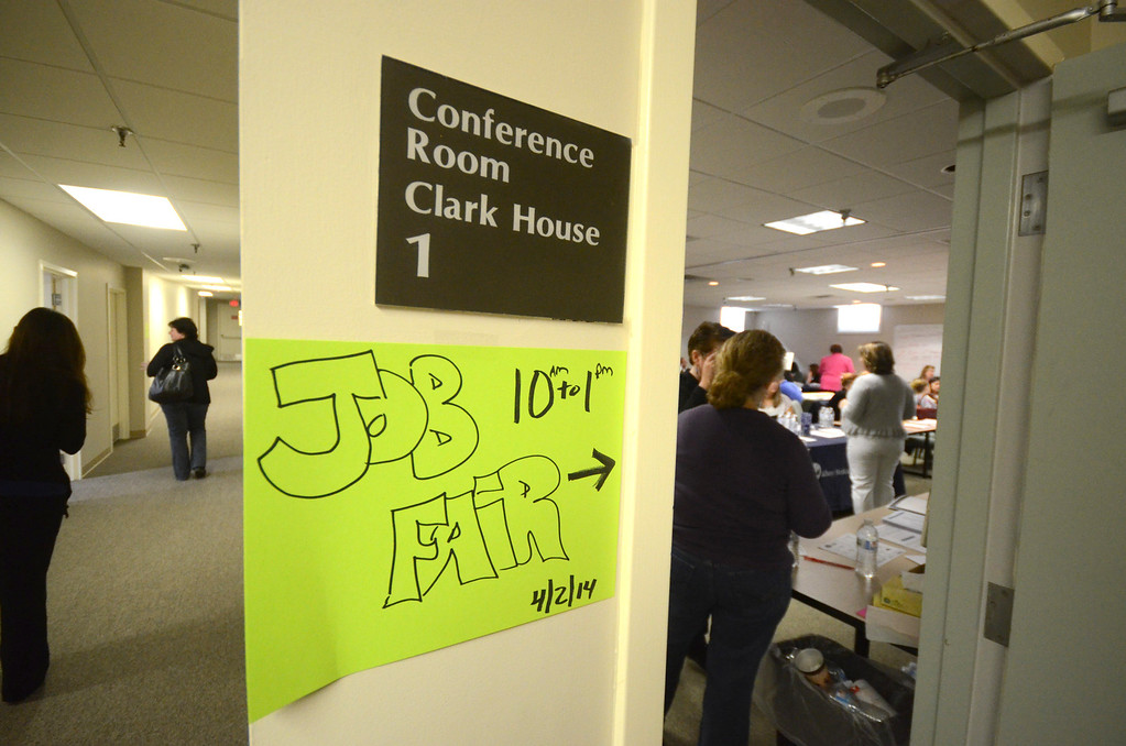 . Over a dozen vendors and other organizations participated in job fair, for health care workers, in conference room of The Clark House on the campus of North Adams Regional Hospital on Wednesday, April, 2, 2014. Gillian Jones / Berkshire Eagle Staff / photos.berkshireeagle.com