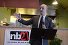 Senator Benjamin Downing speaks during kick-off dinner for the launch of the  nb21 (not before 21) North Adams Strategy Team on Monday, Aug. 5, 2013. The team aims to to prevent and reduce underage substance abuse and drinking.(Gillian Jones/North Adams Transcript)(Gillian Jones/North Adams Transcript)
