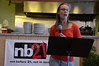 Jessica Dennis, nb21 North Adams Strategy Team leader, speaks during kick-off dinner for the launch of the  nb21 (not before 21) North Adams Strategy Team on Monday, Aug. 5, 2013. The team aims to to prevent and reduce underage substance abuse and drinking.(Gillian Jones/North Adams Transcript)