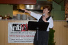 Northern Berkshire Community Coalition Prevention Coordinator Lois Daunais speaks kick-off dinner for the launc of the  nb21 (not before 21) North Adams Strategy Team on Monday, Aug. 5, 2013. The team aims to to prevent and reduce underage substance abuse and drinking.(Gillian Jones/North Adams Transcript)