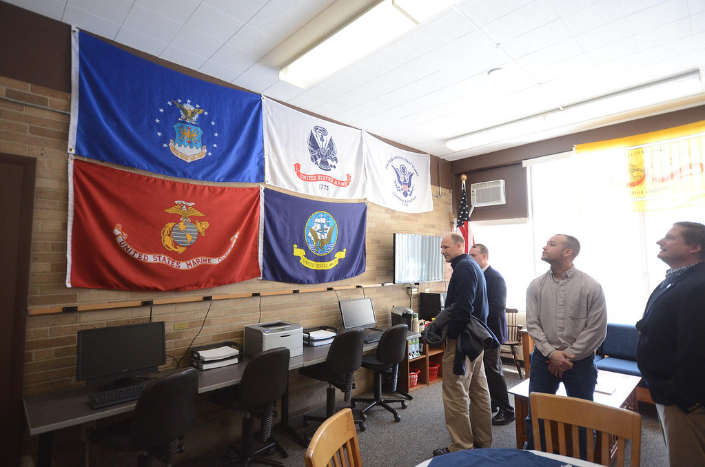 . A look inside the new Veterans\' Resource Center located in Venable Hall at the Massachusetts College of Liberal Arts on Wednesday, April, 16, 2014. Gillian Jones / Berkshire Eagle Staff / photos.berkshireeagle.com