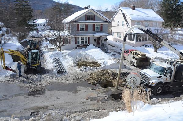 Water Main Break in North Adams-022315