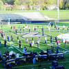 The Zionsville Marching Eagles rehearse their show, The Sorcerer and the Swan, Friday, Oct. 25, in preparation for semi-state. The Eagles placed 15th in the competition Saturday, Oct. 26, at Pike High School.