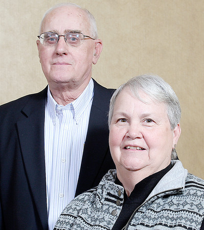 Purdue University photo<br /> John and Carolyn Beck at the Nov. 7 Indiana Extension Educators Association awards luncheon.