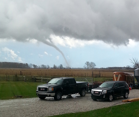 Photo submitted<br /> Greg Inman photographed this tornado from his rural Lebanon home.