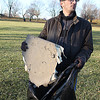 Lebanon Parks Director John Messenger credits Dustin O'Brien, above, with leading the effort to clean up Abner Langley Southside Park. O'Brien and numerous volunteers were out Monday afternoon picking up debris from Sunday's tornado. Because of the amout of debris, volunteers will return on Tuesday afternoon and work until dark.