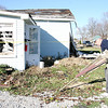 Reporter photo by Rod Rose<br /> James Ritter, a member of Centenary United Methodist Church, was one of several church members who volunteered to clean up tornado debris in a southern Lebanon neighborhood Monday.