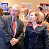J.S.CARRAS - JCARRAS@DIGITALFIRSTMEDIA.COM  Saratoga District Attorney elect Karen A. Heggen (r) speaks her campaign chairman Lou Renzi (l) Tuesday, November 4, 2014 at Holiday Inn in Saratoga Springs, N.Y..