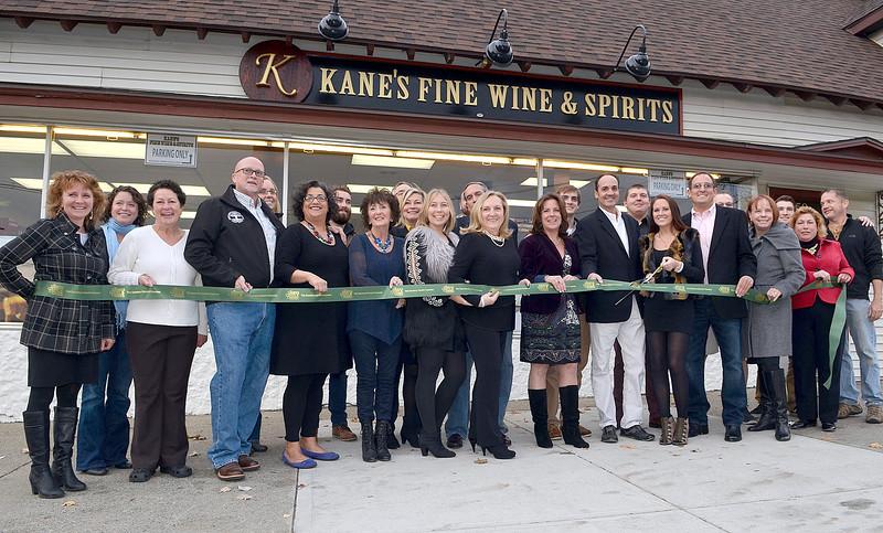 J.S.CARRAS - JCARRAS@DIGITALFIRSTMEDIA.COM  Ribbon cutting for Kane's Fine Wine & Spirits Friday, November 7, 2014 on Lake Avenue in Saratoga Springs, N.Y..