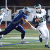 J.S.CARRAS - JCARRAS@DIGITALFIRSTMEDIA.COM  Shenendehowa kick returner Richard Drum (27)  turns the corner on John Jay defender Robbie Schumacher (81) during first quarter of Class-AA regional football action Saturday, November 15, 2014 at Dietz Stadium in Kingston, N.Y..