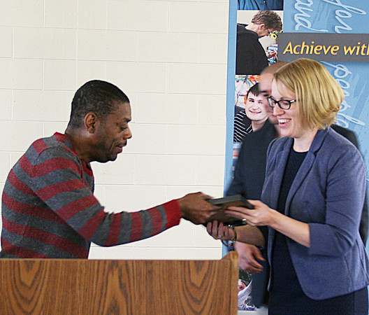 Reggie Johnson was named the Mainstreet Enterprises Participant of the Year.