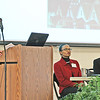 GREENING THE STATEHOUSE DRAWS HUGE CROWD<br /> Elizabeth Pearl | The Lebanon Reporter<br /> ENVIRONMENTAL EVENT: Kim Ferraro (left), water and agriculture policy director at the Hoosier Environmental Council, moderated a panel discussion between Tracy Lewis (center), executive director of the Lake County Minority Health Coalition and Dr. Indra Frank, environmental health director at the HEC. The panel was the first of several featured at the HEC's annual Greening the Statehouse event, which took place Saturday at the Boone County 4-H Fairgrounds. About 520 people attended the conference, where they could visit booths manned by environmental groups and hear discussions on environmental justice, climate progress and the future of Indiana environmental policy. Melissa Mays, a Hoosier native who now lives in Flint, Michigan, gave the keynote address on environmental advocacy.