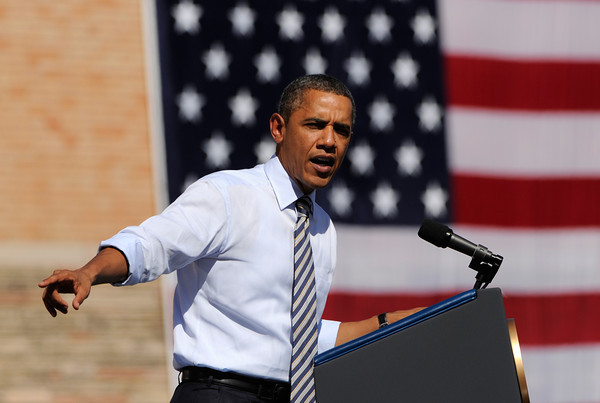 President Obama speaks at Abraham Lincoln High School in Denver to highlight his American Jobs Act proposal.         Joe Amon, The Denver Post