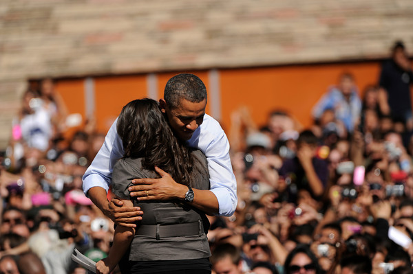 President Barack Obama is introduced by honors student Amelia Sanchez, at Abraham Lincoln High School in Denver, Tuesday, Sept. 27, 2011.        Joe Amon, The Denver Post
