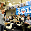 "Obama Campaign Director of Opinion Research David Simas, left, speaks to the crowd on Wednesday, March 21, during a Greater Together Student Summit at the Duane Physics building on the University of Colorado campus in Boulder. For more photos and video of the event go to  <a href=""http://www.dailycamera.com"">http://www.dailycamera.com</a><br /> Jeremy Papasso/ Camera"