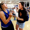 "Kenzie Knop, left, and Amalia Arguello, are excited about getting their Obama tickets, after waiting several hours.<br /> Thousands of University of Colorado students lined up around the UMC Sunday to get tickets to the speaking engagement of President Barack Obama Tuesday at the Coors Events Center.<br /> For more photos and a video of the students, go to  <a href=""http://www.dailycamera.com"">http://www.dailycamera.com</a>.<br /> Cliff Grassmick / April 22, 2012"