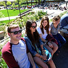 Sam Lentz, left, Lucie Rosner, Mackenzie Bosher, and Chelsea Miller, talks while waiting in the Obama line.<br /> Thousands of University of Colorado students lined up around the UMC Sunday to get tickets to the speaking engagement of President Barack Obama Tuesday at the Coors Events Center.<br /> Cliff Grassmick / April 22, 2012
